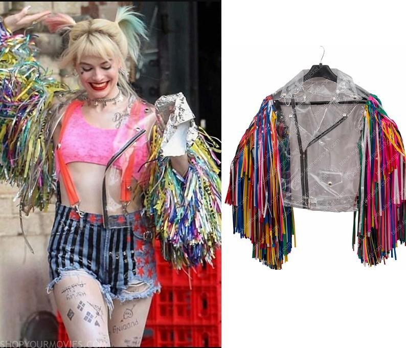 Birds Of Prey Harley Quinn S Clear Fringe Sleeve Jacket Shopyourmovies
