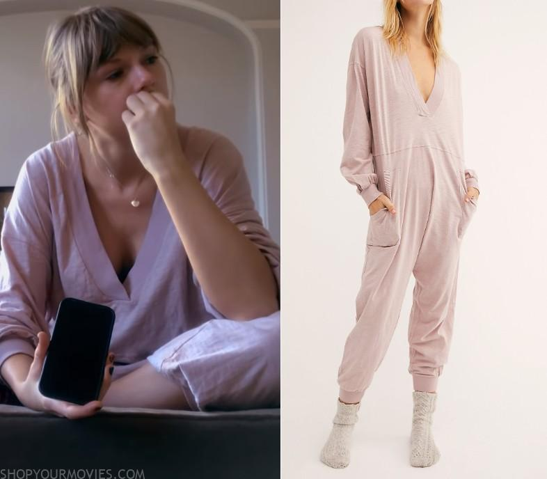 Miss Americana Taylor Swift S Pink V Neck Lounge Onesie Shopyourmovies