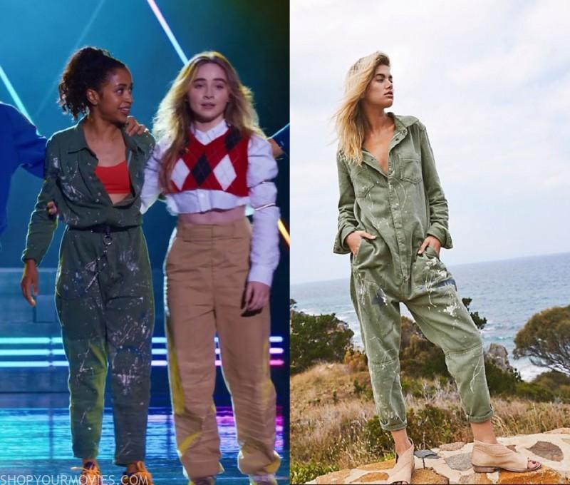 Work It Jasmine S Green Paint Splatter Jumpsuit Shopyourmovies